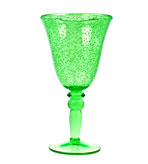 Plastic Wine Glass - Green