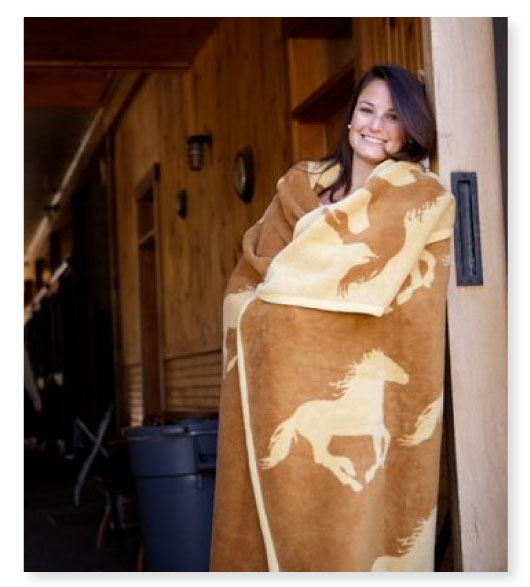 plush throw blanket horse