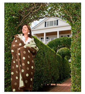 plush throw blanket polka dots
