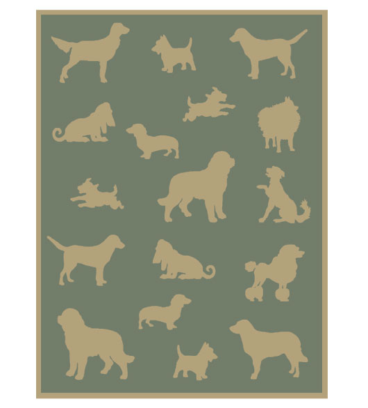 plush throw dogs reverse