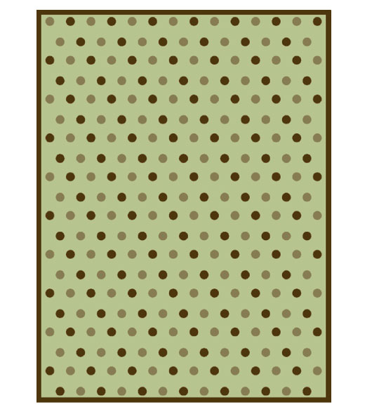 plush throw polka dots reverse