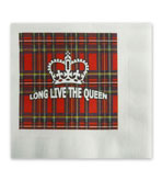 Cocktail Napkins Royal Plaid