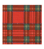 Royal Plaid Dinner Napkins 40 Count