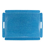 shagreen tray blue
