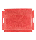 shagreen tray red