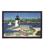 Small Kitchen Rug 30x46 Inch Lighthouse