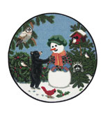 Small Kitchen Rug 30 Inch Round Snow Boy