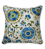 Suzani Pillows Blue