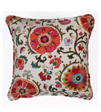 Suzani Pillows Red