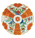 Round Placemats Orange Floral