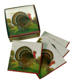 Autumn Farm Beverage Napkins - Box 40