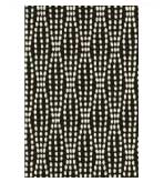 Unique Shower Curtain Black & White Strands