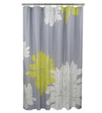 Unique Shower Curtain Citron and Gray