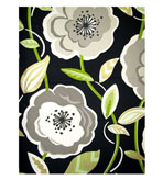 Unique Shower Curtains Poppy Black