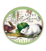 "Wood Serving Trays Bunny 14"" Round"