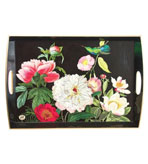 "Wood Serving Trays Peony Blossom 20"" x 13.75x 2.75"""