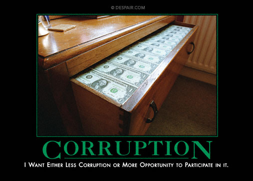 Corruption Demotivator