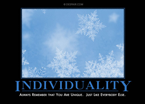 Individuality from Despair.com