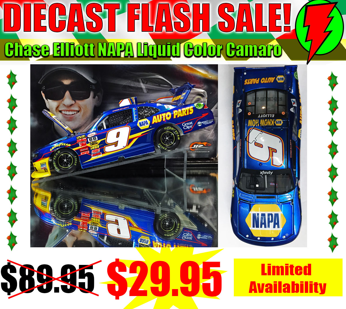 chase elliott diecast flash sale