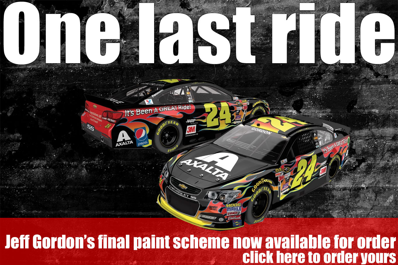 jeff gordon last ride diecast car