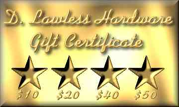 Gift Certificates best way to give.