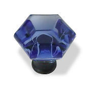 deep colbalt blue ABS acrylic scroll knob