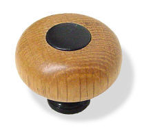Wooden Knob with Metal base