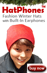 Hatphones Hats with Earphones Built In