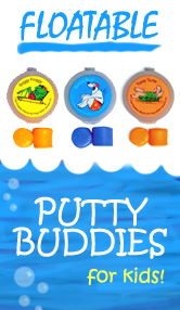Putty Buddies Floatable Colorful Swim & Water Ear Plugs for Kids!