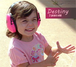Destiny loves her ear muffs for babies & children!