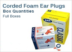 Corded Foam Ear Plugs in Boxes