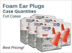 Foam Ear Plugs in Large Quantities (Boxes and Cases, Best Prices!)