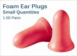 Foam Ear Plugs in Small Quantities (1-50 Pairs)