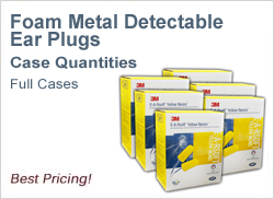 Foam metal detectable Ear Plugs in Cases, Best Prices!