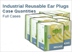 Industrial Reusable Ear Plugs in Cases, Best Prices!