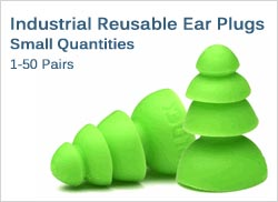 Industrial Reusable Ear Plugs in Small Quantities (1-50 Pairs)