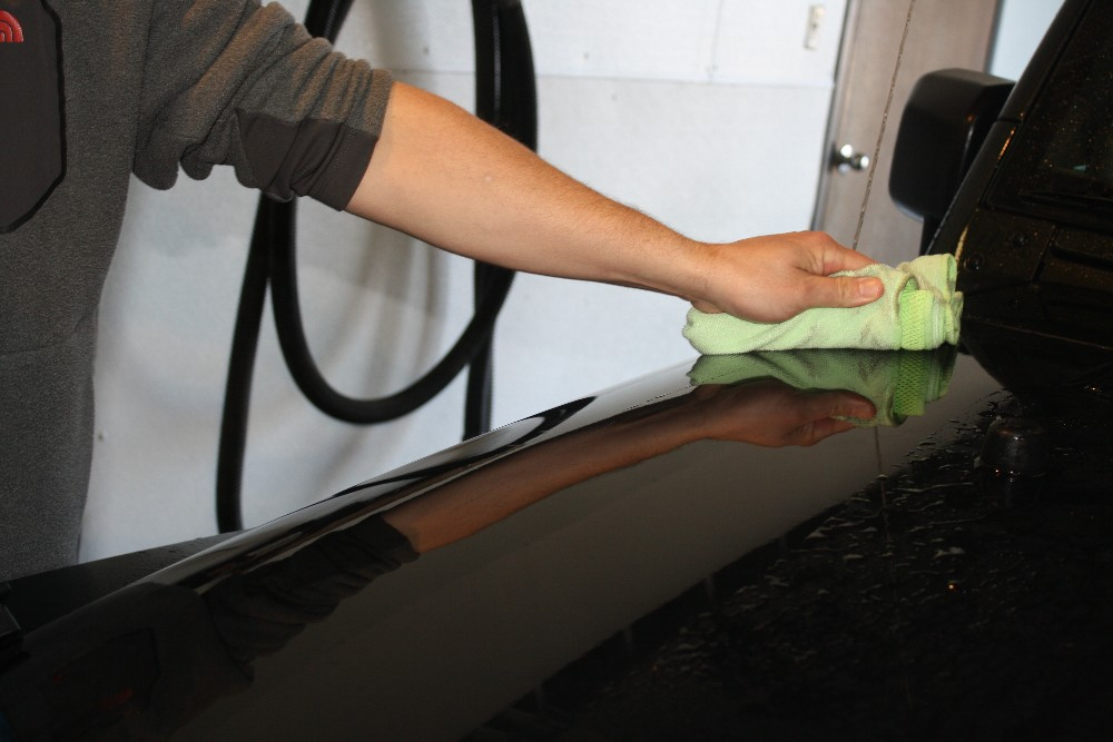 Use Microfiber Towel to Wipe Drips