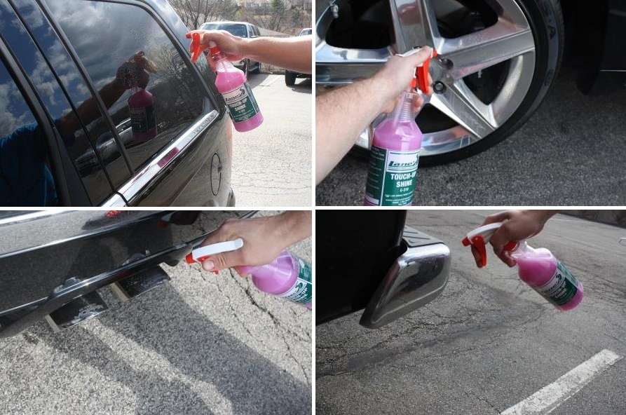 Use Touch-Up Shine for Glass, Wheels and Chrome