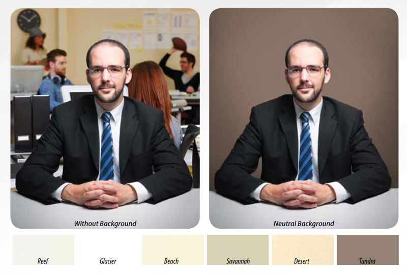 Draper's Neutral Background Tones Fit a Wide Variety of Applications