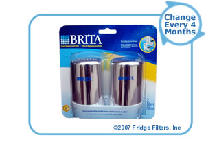 Brita 42618 On-Tap FR-200 Faucet Filter Replacement Cartridge - Chrome (2-Pack)