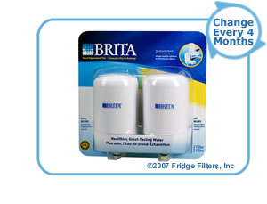 Brita 42402 On-Tap FR-200 Faucet Filter Replacement Cartridge - White (2-Pack)