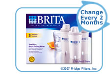 Brita 35503 OB03 Pitcher Replacement Cartridge (3-Pack)