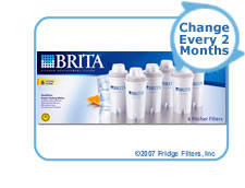 Brita 71048 OB03 Pitcher Replacement Cartridge (6-Pack)