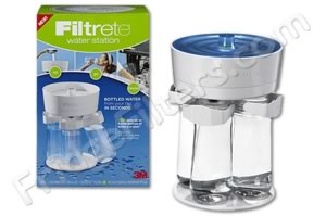 Filtrete WS01-WH Water Station Filtered Water Bottle Filling Station