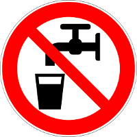 Hazard Symbol for No Drinking Water