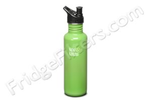 Klean Kanteen K27PPS-BG 27-Ounce Stainless Steel Water Bottle with Sport-Top - Be Green