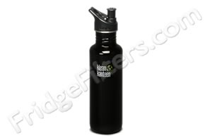 Klean Kanteen K27PPS-BE 27-Ounce Stainless Steel Water Bottle with Sport-Top - Black Eclipse