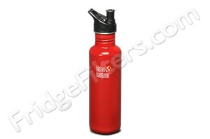 Klean Kanteen K27PPS-IR 27-Ounce Stainless Steel Water Bottle with Sport-Top - Indicator Red