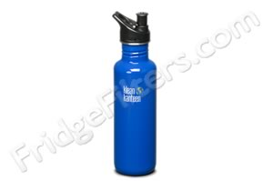 Klean Kanteen K27PPS-OB 27-Ounce Stainless Steel Water Bottle with Sport-Top - Ocean Blue
