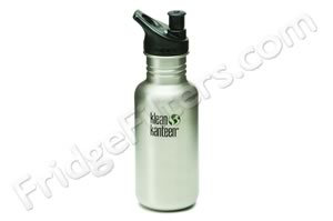 Klean Kanteen K18PPS 18-Ounce Stainless Steel Water Bottle with Sport-Top